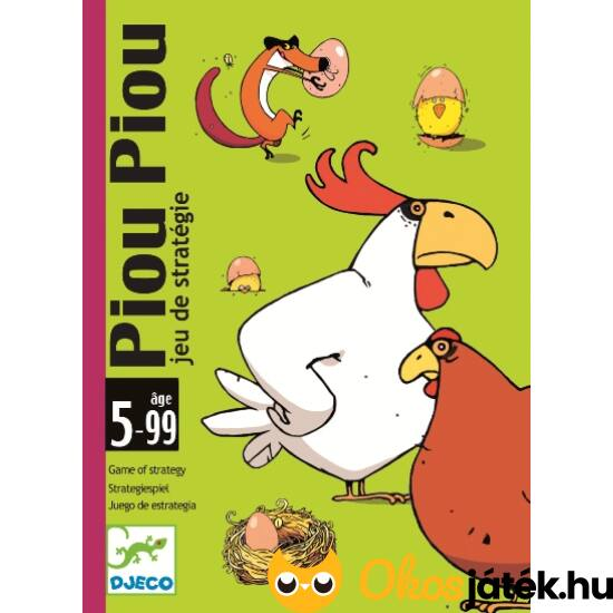 Piou Piou Djeco vicces kártyajáték gyerekeknek - DJ5119 (BO)
