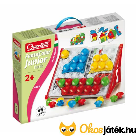 Quercetti bébi pötyi kerek korongokkal - Fantacolor Junior Basic 4195 (KW)