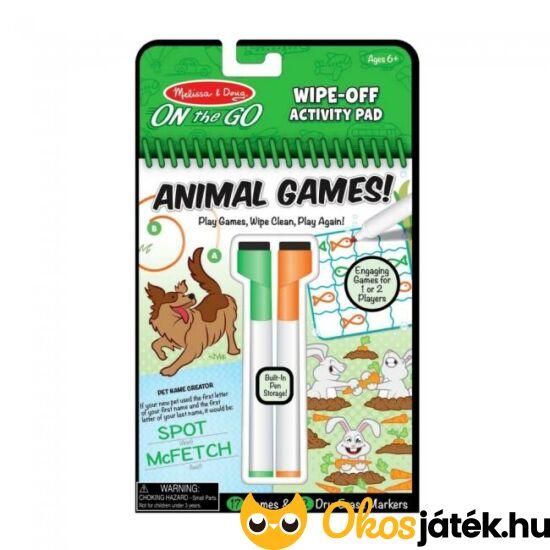 Újraírható foglalkoztató füzet - 30171 Melissa Doug, állati játékok