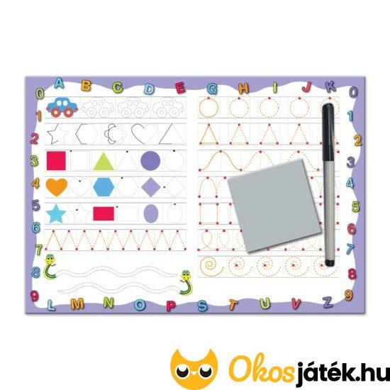 vonalvezető játék D-toys rajztábla formák