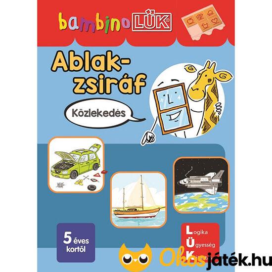 LDI142 Bambino füzet ablak zsiráf közlekedés