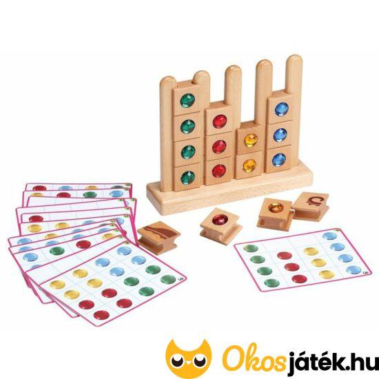 színsorrend montessori játék és felfűzős puzzle kirakó készségfejlesztő fejlsztő játék fából