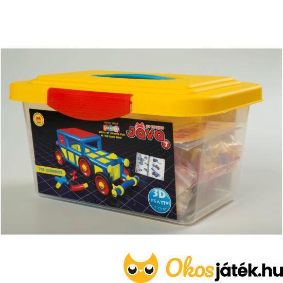 Jáva 7 építőjáték műanyag dobozban