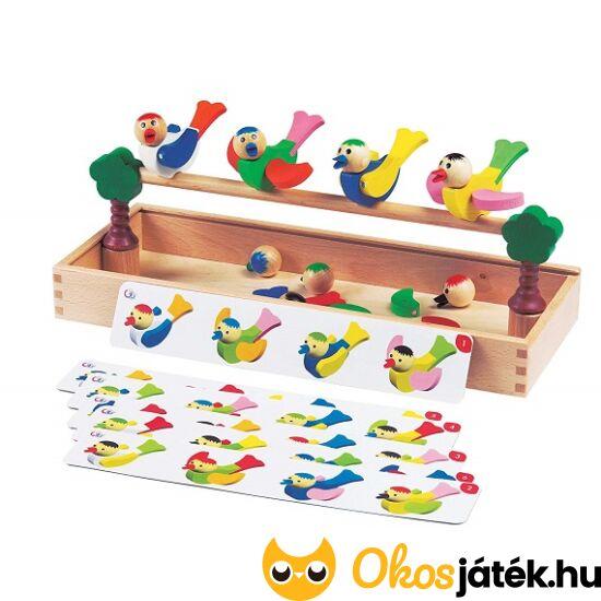 kreatív kirakós fajáték madaras készségfejlesztő játék gyerekeknek fából
