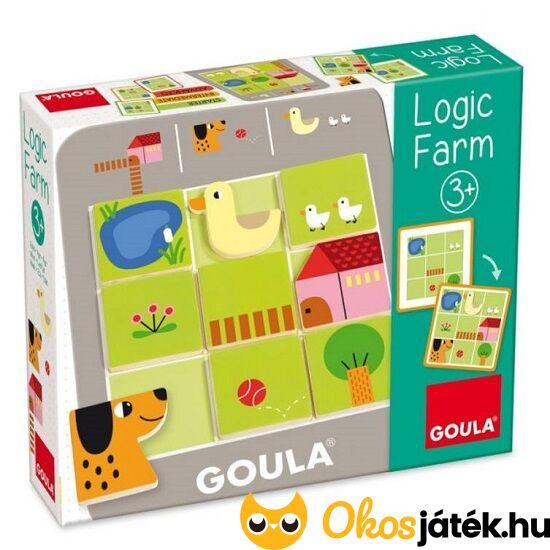 Goula Logikus farm logikai játék ovisoknak óvodásoknak