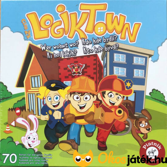 Ki hol lakik? Logikai játék Logiktown