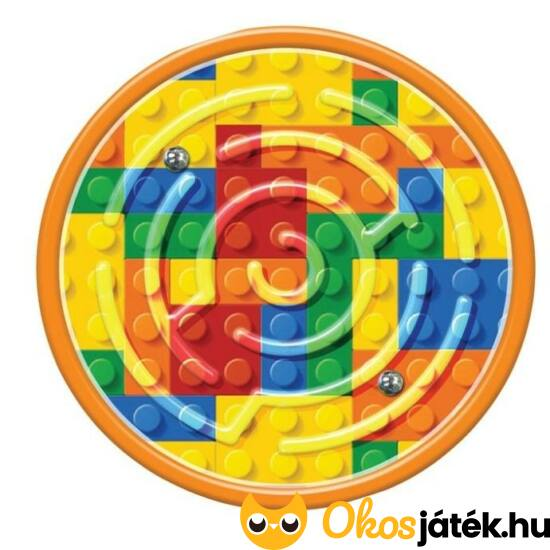 Mini golyóvezető labirintus ügyességi - logikai játék - Lego mintával