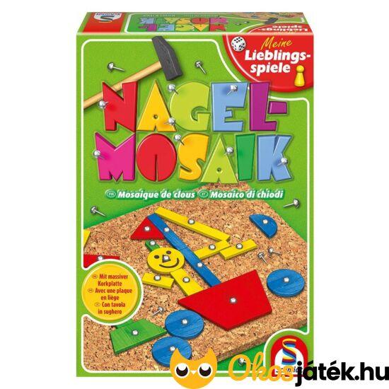 Kalapálós, szögelős mozaik kirakó játék - Schmidt Nagelmosaik - GA