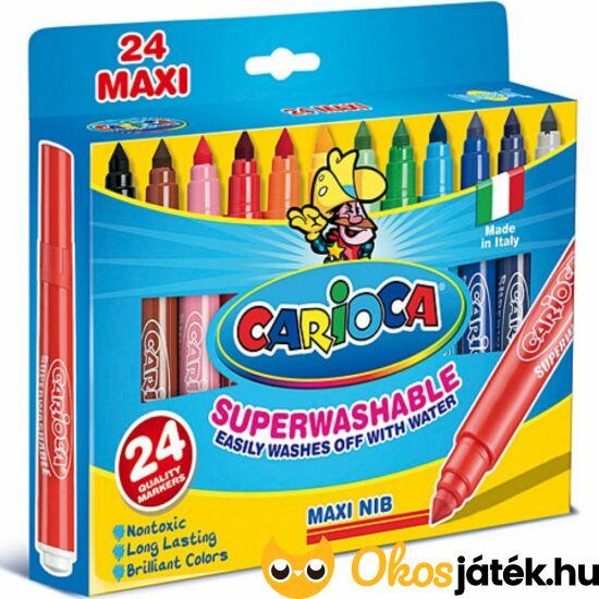 "Carioca Superwashable Szupermosható filctoll 24 db-os 41947 (KW) ""Utolsó darabok"""