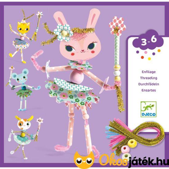 zseníliadrót figura készítő Djeco kreatív játék lányoknak kislányoknak kislánynak