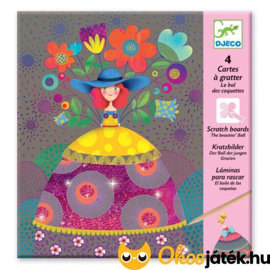 Színes képkarcoló - Szépségek bálja - lányos - DJ 9725
