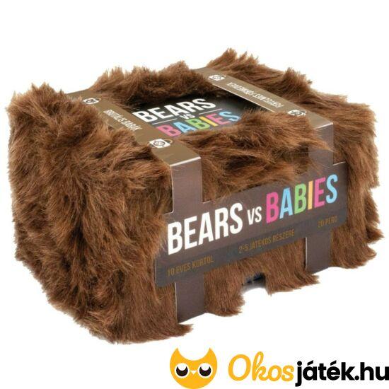 bears vs babies kártyajáték társasjáték szőrös dobozban szőrös dobozos játék