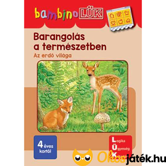 Barangolás a természetben -Az erdő világa - Lük Bambino füzet LDI-139