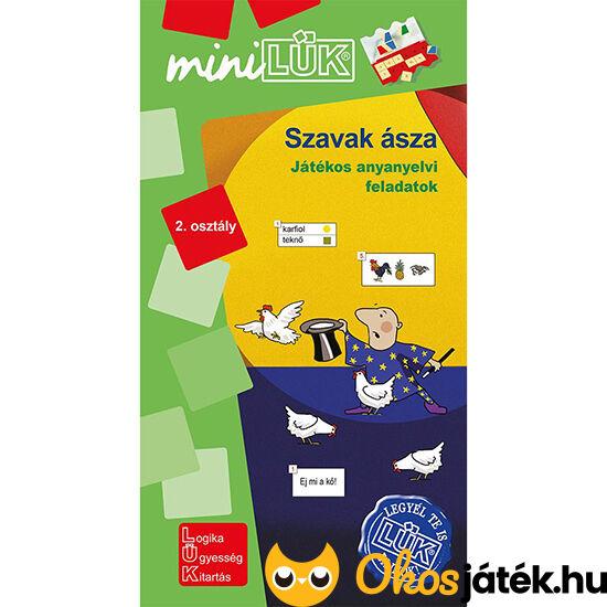 LDI-551 Szavak ásza - Játékos anyanyelvi feladatok 2. osztály -  Lük Mini füzet