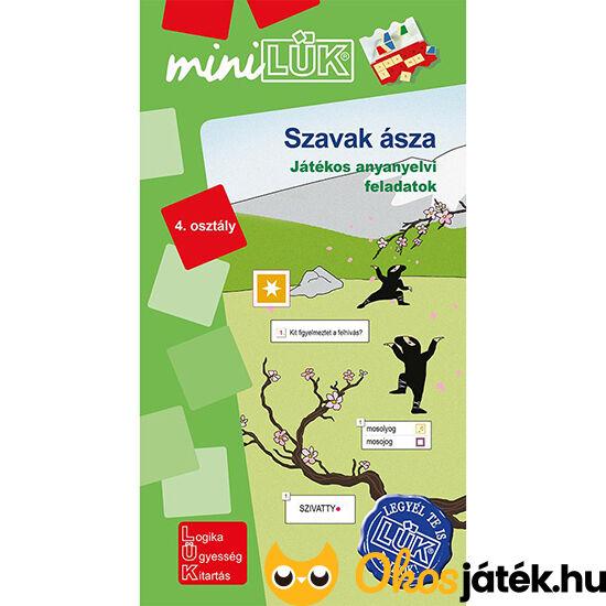 LDI-553 Szavak ásza - Játékos anyanyelvi feladatok 4. osztály -  Lük Mini füzet