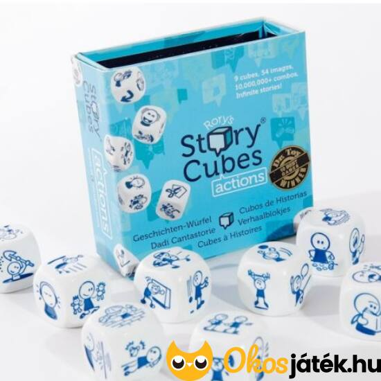 Sztorikocka cselekvésekkel -Story cubes Actions - KÉK - GE