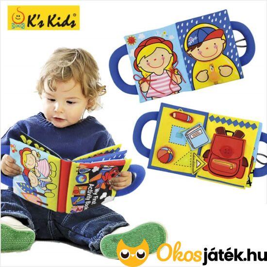Interaktív, készségfejlesztő textilkönyv babáknak - Ks Kids - VI 10666