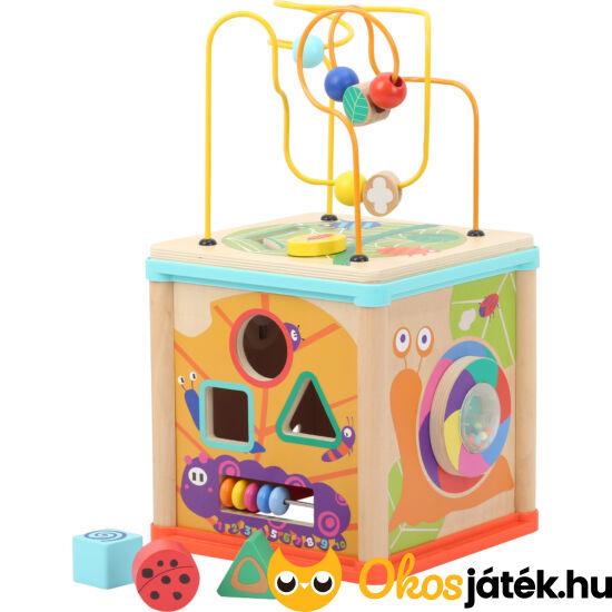 Játékcenter 5 játék egyben, vidám, színes fajáték - Legler 10622 (LE)