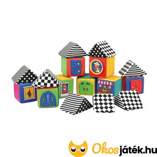 Puha textil építőkocka készlet babáknak - Ks Kids 13003 (VI)