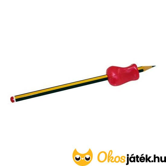 Ceruzafogó -puha gumiból-, háromszög alakú - ED 120008 - Piros