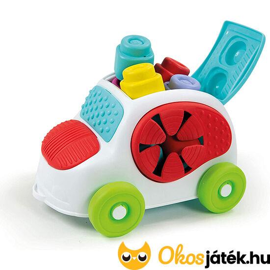 Clemmy baby puha építőkocka készlet autóban