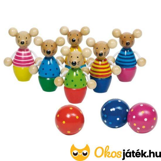 Fa kis teke játék gyerekeknek 8-9cm bábukkal egérkés - GO 56943
