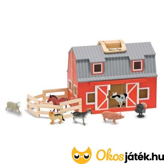 Játék farm - összecsukható állatfarm játék házi állatokkal - Melissa Doug 13700 (ME-R4)