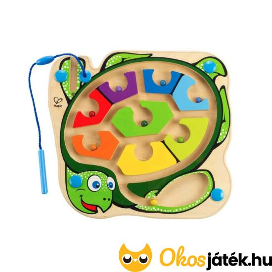 Mágneses golyóvezető labirintus játék (teknős) Hape E1705 (HO)