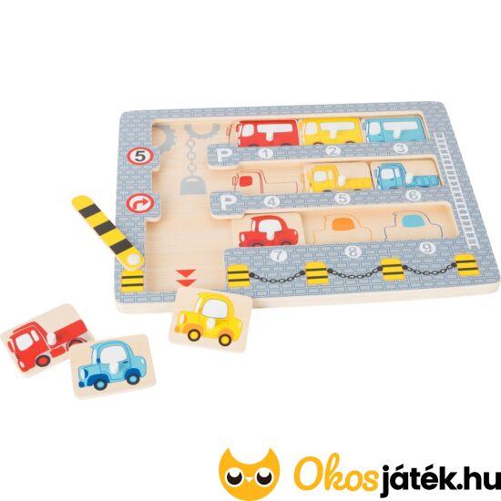 Fa parkolóház autós oktató játék - Legler 10660 (LE)