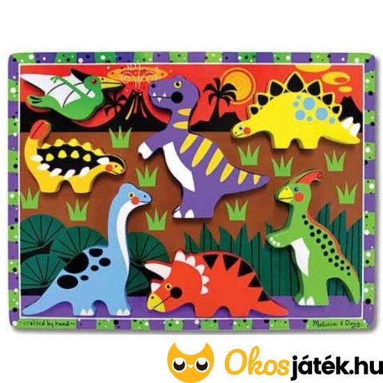 """Fa dínós formakirakó, formafelismerő puzzle játék 1 éveseknek - Melissa Doug 13747 (ME-52) """"Utolsó darabok"""""""