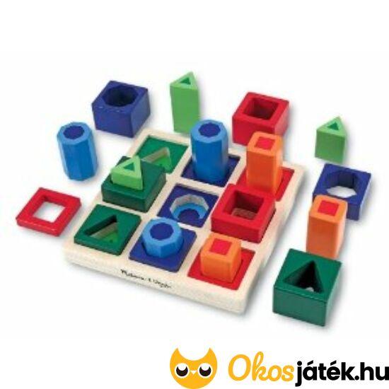 Fa formaberakó játék (geometriai 3D formakereső puzzle) Melissa 10582 (ME-52)