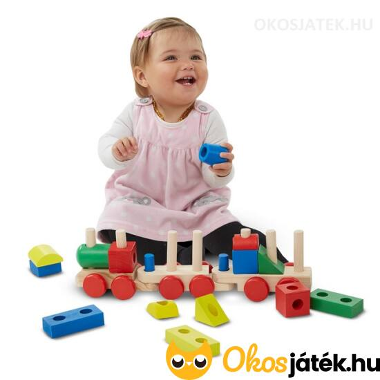 Montessori fa vonat nagy elemekkel - Melissa & Doug 10572 (ME-R2)