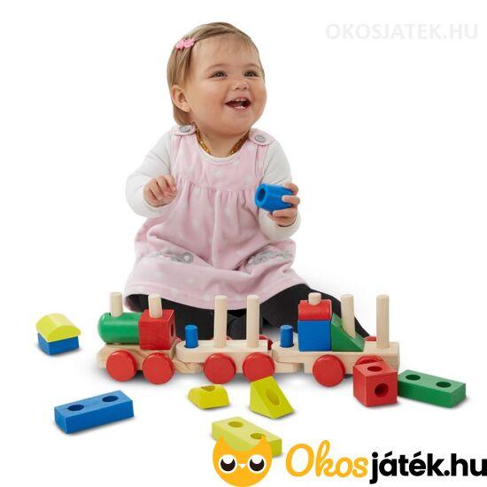Montessori fa vonat nagy elemekkel - Melissa & Doug 10572 (ME-53)