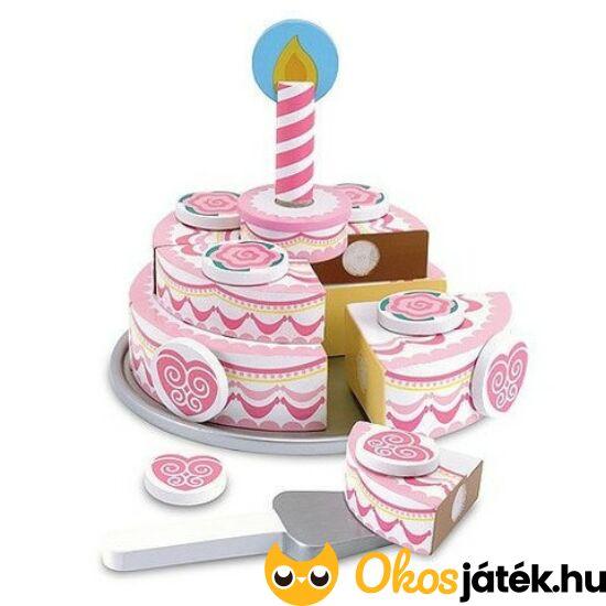 Szeletelhető, emeletes fa torta játék gyerekeknek Melissa&Doug 14069 (ME)