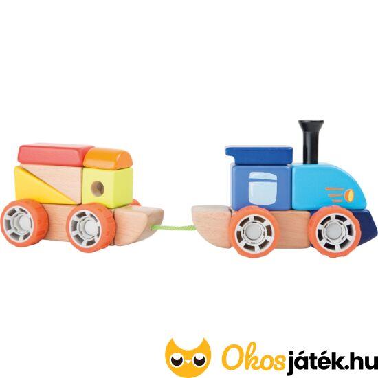Építőkockás fa vonat - Legler 10340 (LE)