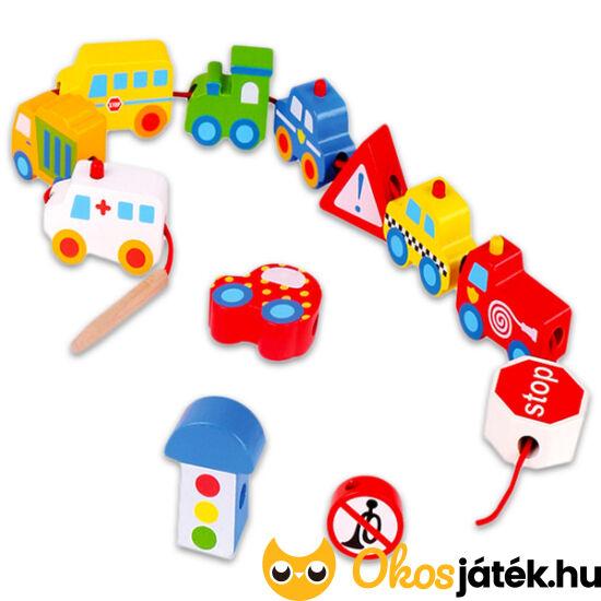 Fűzhető járművek - autós fűzős játék fiúknak Tooky TKB512 (JN)