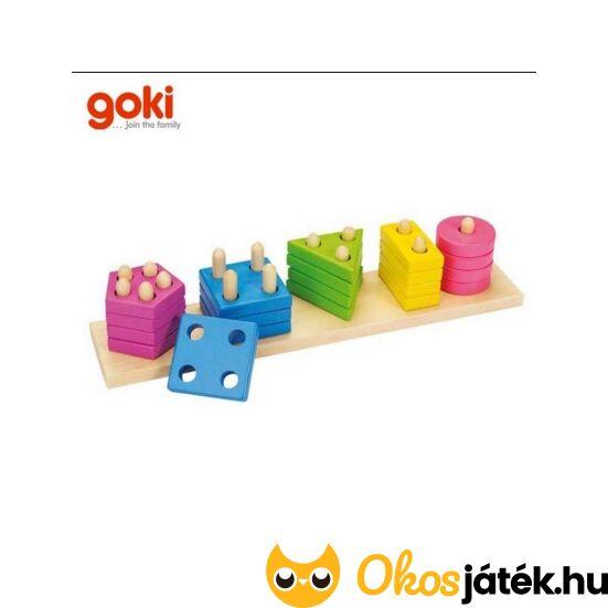 Goki szín és forma válogató montessori torony - 58927 (GO)