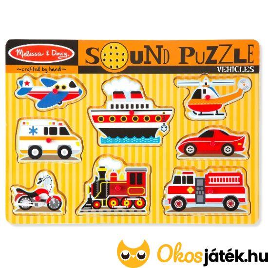 """Járművek hangot adó formaberakó puzzle - Melissa 10725 (ME-R1) """"Utolsó darabok"""""""