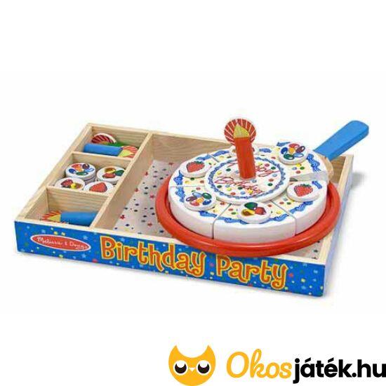 Játék torta - szülinapi, szeletelhető Melissa&Doug játék torta - 10511 (ME-54)