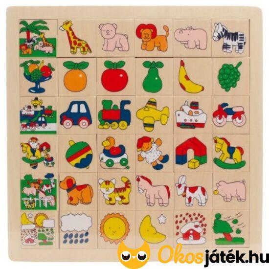 Képkereső játék fából - zsiráfos - 0081