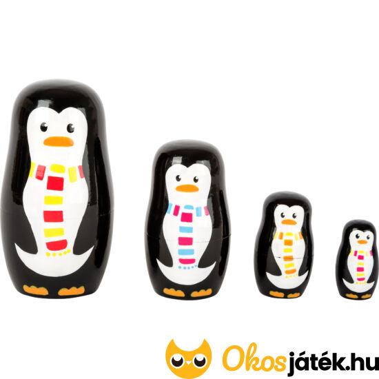 Pingvin család matryoshka babák (4db) - Legler