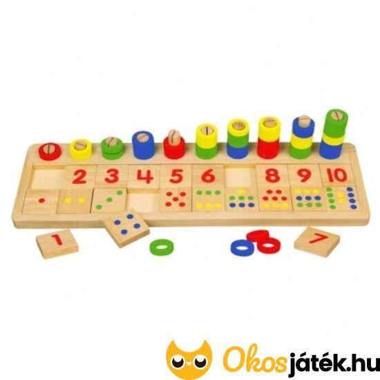 Számolj és párosíts! Számlépcső, számolás gyerekeknek játék 0304 (FA)