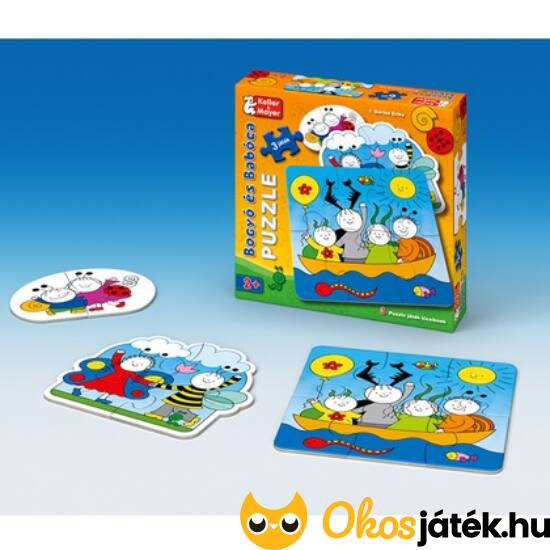 Bogyó és Babóca baba puzzle (2-4-6 db-os) - Keller Mayer 713212 (KM-22)