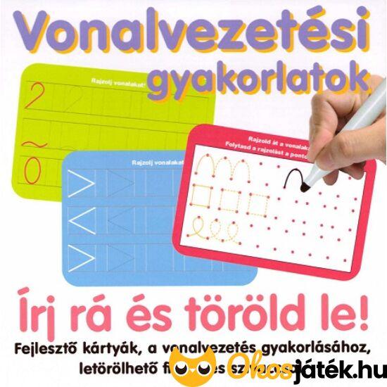 Vonalvezetési gyakorlatok - feladatkártyák letörölhető filccel - DT 646/01