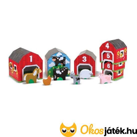 Háziállatok és házikóik - sorbarendező játék - Melissa 12434 (ME-45)