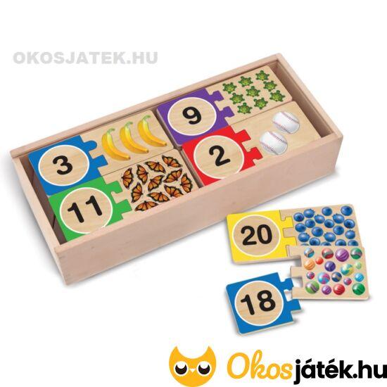 Fa számos párosító puzzle játék - Melissa Doug 12542 (ME-64)