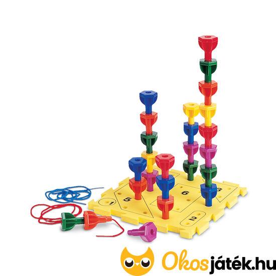 Rainbow Peg Play - finommotoros mozgást fejlesztő játék - LER 0594