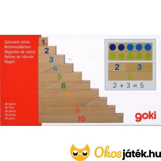 """Goki számoló farudak pöttyökkel és számokkal  - 58535 (GO) """"utolsó darabok"""""""