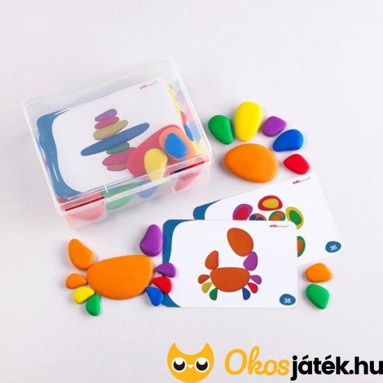 szivárvány kavicsok rainbow pebbles készségfejlesztő játék óvodásoknak
