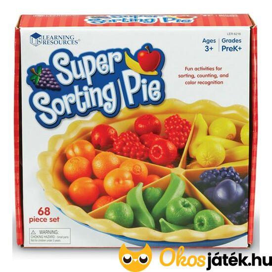 Színfelismerő és forma válogató csipeszes játék - Super Sorting Pie 6216 (LR)